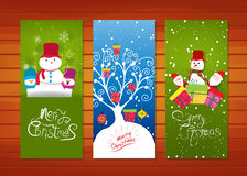 Collection of Christmas banners Stock Photos