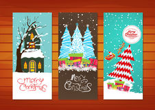 Collection of Christmas banners Royalty Free Stock Photography