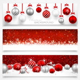 Collection of Christmas banners Royalty Free Stock Photo