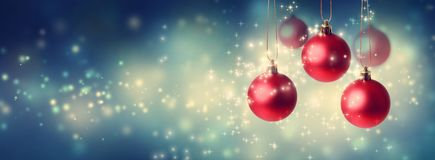 Collection of Christmas baubles royalty free stock photos