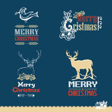 Collection of Christmas calligraphic and typographic design Royalty Free Stock Photo