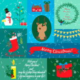 Collection with Christmas cards Stock Images