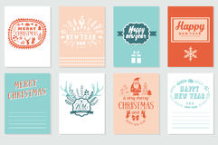 Printable Journaling Christmas Cards Happy New Year Stock