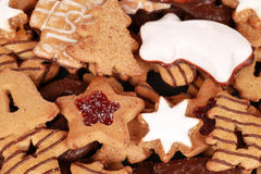Collection of christmas cookies Royalty Free Stock Images