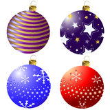 Collection Christmas decorations (vector) Royalty Free Stock Images