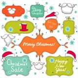 Collection of christmas  decorative elements Stock Photography