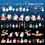 Collection of Christmas design element Royalty Free Stock Photo