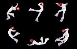 Collection of christmas elf acrobat Stock Photos