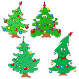 Collection of Christmas firs. Characters Christmas tree. Vector Stock Photography