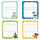 Collection of christmas frames. Stock Photography