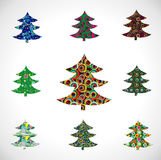 Collection Christmas Fur-tree. Royalty Free Stock Photography