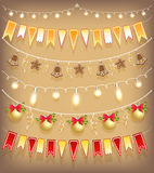 Collection Christmas garland. Stock Photography