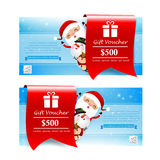 Collection of christmas gift voucher tag banner promotion sale  Stock Photography