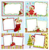 Collection of Christmas greetings cards Royalty Free Stock Photos