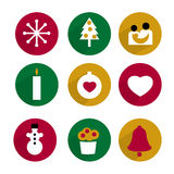 Collection of Christmas icon. Stock Images