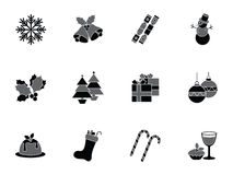 Collection of christmas icons Royalty Free Stock Image