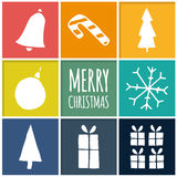 Collection of  Christmas icons. Stock Images