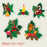 Collection of christmas items Stock Image