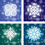 Collection of handmade snowflakes Royalty Free Stock Images