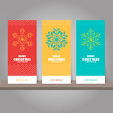 Collection of Christmas and New Year gift card, tags. Card templ Stock Photos