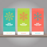 Collection of Christmas and New Year gift card, tags. Card templ Royalty Free Stock Photos