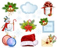 Collection of Christmas objects Stock Photo