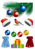 Collection of Christmas objects Stock Image