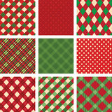 Collection of christmas ornaments Stock Image