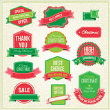 Collection of christmas ornaments and decorative Royalty Free Stock Photography
