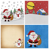 Collection of Christmas papercraft background. Stock Photography