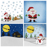 Collection of Christmas papercraft background. Stock Photos