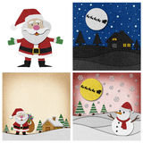 Collection of Christmas papercraft background. Stock Image