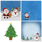 Collection of Christmas papercraft background. Stock Photo