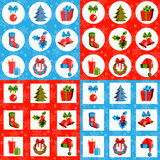 Collection of Christmas patterns Royalty Free Stock Photography