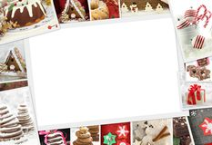 Collection of Christmas photos of confections Royalty Free Stock Image
