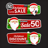 028 Collection of Christmas Sale red and green web tag banner pr Royalty Free Stock Images