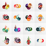 Collection of Christmas Sale Stickers, Labels and Tags with snowflakes Stock Photo