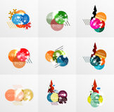 Collection of Christmas Sale Stickers, Labels and Tags with snowflakes. For web design templates, online store price promotions Stock Photo