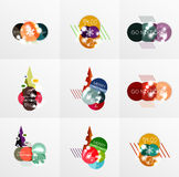Collection of Christmas Sale Stickers, Labels and Tags with snowflakes Stock Photos
