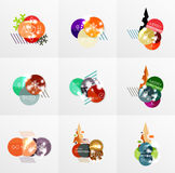 Collection of Christmas Sale Stickers, Labels and Tags with snowflakes. For web design templates, online store price promotions Royalty Free Stock Photography