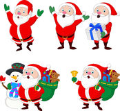 Collection of Christmas Santa Claus vector illustration
