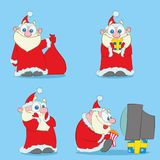 Collection of Christmas Santa Claus royalty free illustration