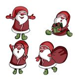 Collection of Christmas Santa Claus stock illustration