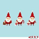 Collection of Christmas Santa Claus. Vector illustration. Stock Photos