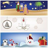 Collection of christmas scenery Stock Image