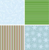 Collection of christmas seamless patterns Stock Photography