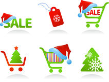 Collection of Christmas Shopping Icons!. Collection of Christmas Shopping Icons and logos Royalty Free Stock Photo