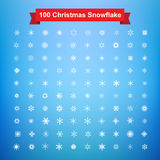Collection of 100 Christmas snowflake vector illustration eps10 Stock Image