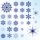 Collection of Christmas snowflakes stock photography