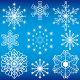 Collection of Christmas snowflakes Royalty Free Stock Photography
